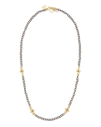Black Diamond Cable-Chain Necklace, 16
