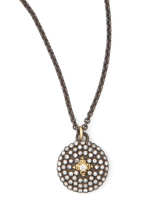 Pave Diamond Shield Pendant Necklace