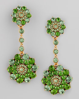 Oscar de la Renta Evergreen Crystal Drop Earrings