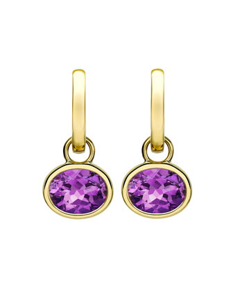 18k Gold Eternal Amethyst Drop Earrings