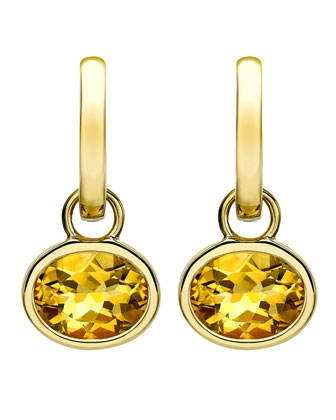 18k Gold Eternal Citrine Drop Earrings