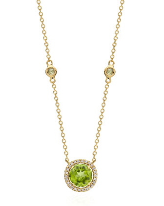 Grace Green Peridot & Diamond Necklace
