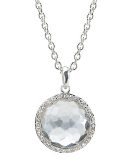 Ippolita Rock Candy Silver Stella Lollipop Diamond Necklace, Quartz