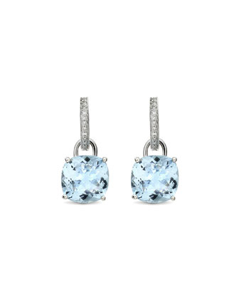 Eternal 18k White Gold Topaz Diamond Earrings