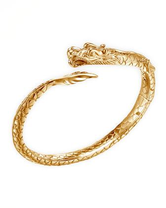 Naga Dragon 18k Slim Kick Cuff Bracelet