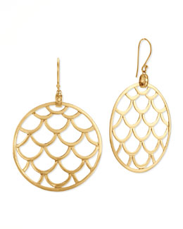 John Hardy Naga 18k Gold Wired Drop Earrings