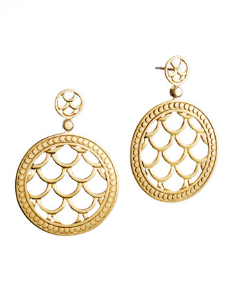Naga 18k Gold Post Drop Earrings