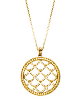 John Hardy 18k Gold Naga Pendant Necklace