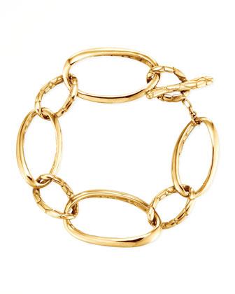 Kali 18k Gold Large Link Bracelet