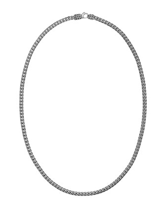 Classic Chain Silver Slim Necklace, 16