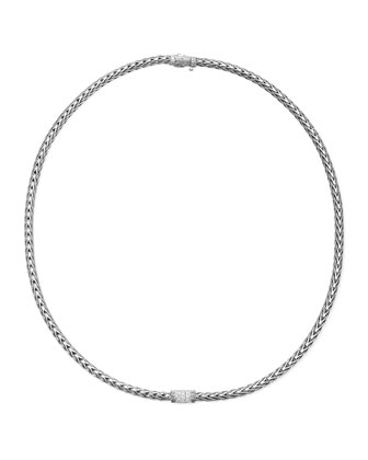 Classic Chain Single Diamond Station Necklace