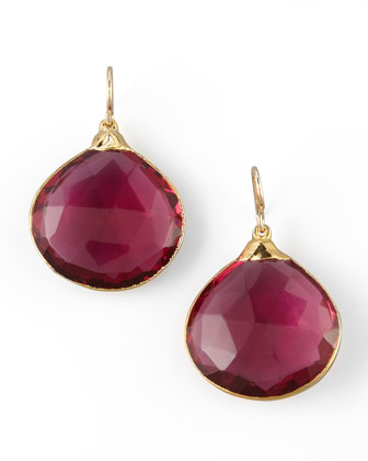 Fuchsia Quartz Drop Earrings