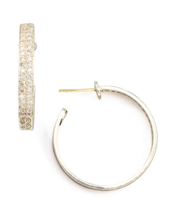 Classic Diamond Pave Hoop Earrings