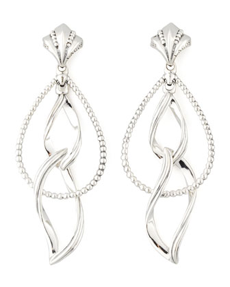 Sterling Silver Double Marquise Earrings