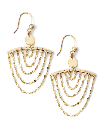 Small Gold Chain Cascade Earrings