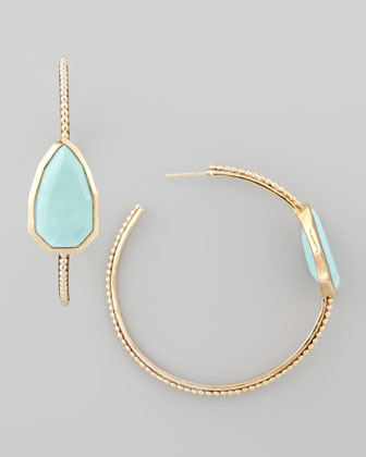 Turquoise Cathedral Hoop Earrings