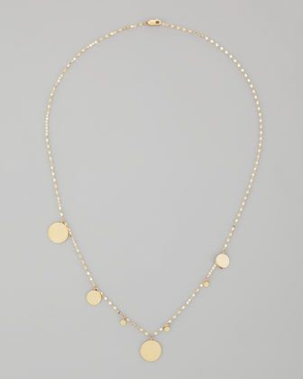 Gypsy 14k Gold Disc-Charm Necklace, 20