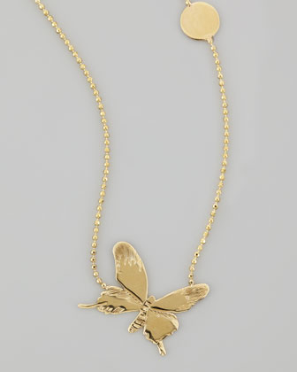 14k Gold Social Butterfly Necklace