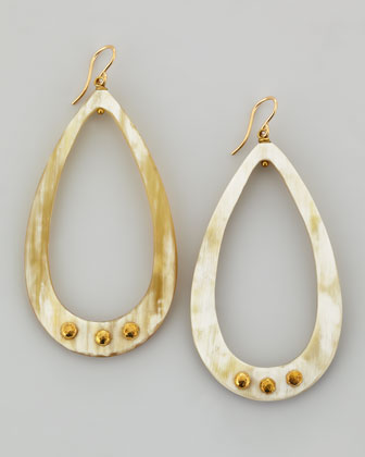 Chozi Light Horn Teardrop Earrings