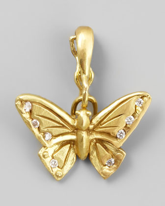 18k Yellow Gold Diamond Butterfly Enhancer