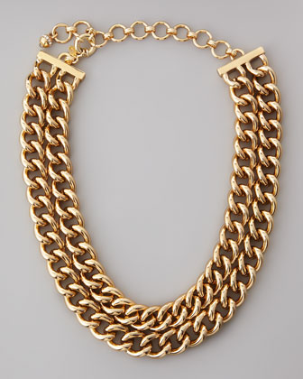 Double-Row Curb Chain Necklace