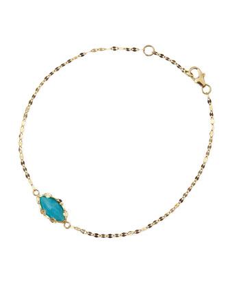 14k Gold Turquoise Bracelet