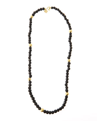 Dark Horn Bead Necklace, 40