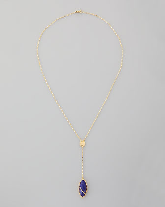 Abra Lapis Drop Necklace