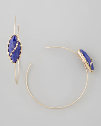 Abra Lapis Hoop Earrings