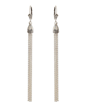 Sterling Silver Chain Tassel Earrings