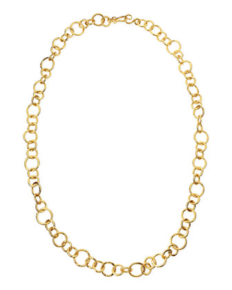 Coronation 24k Gold Plate Large Necklace, 42