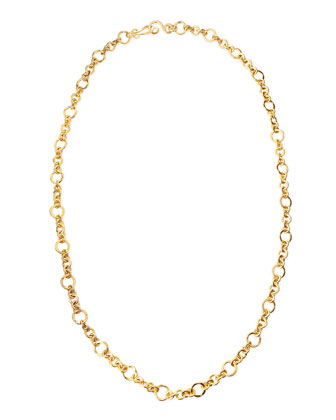 Coronation 24k Gold Plate Small Necklace, 42