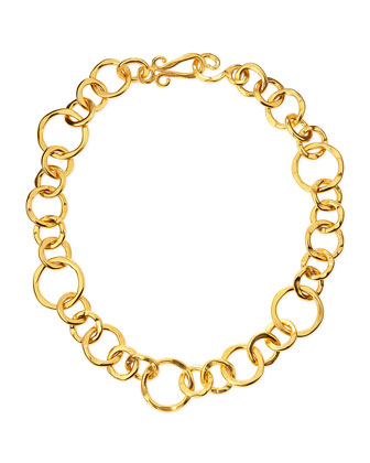 Coronation 24k Gold Plate Large Necklace, 18