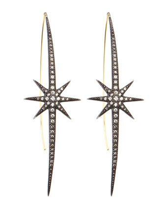Shadow Silver Starburst Earrings