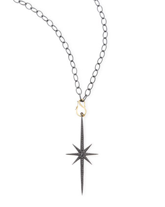 Shadow Silver Starburst Icicle Necklace