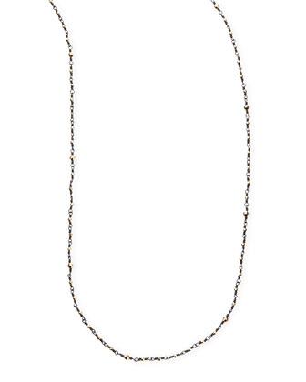 14k-Bead Shadow Silver Necklace, 34