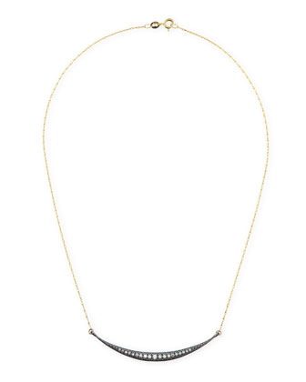 Horizontal Icicle Crescent Necklace