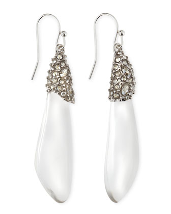 Medium Pave Crystal Lucite Teardrop Earrings