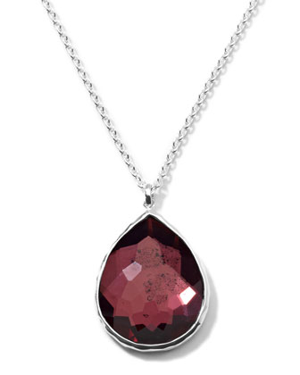 Rock Candy Large Boysenberry Pendant Necklace