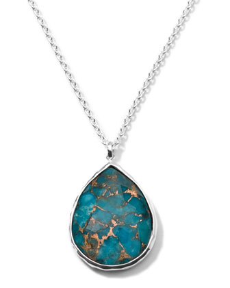 Rock Candy Large Turquoise Pendant Necklace