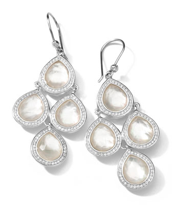 Sterling Silver Stella Mother-of-Pearl & Diamond 4-Drop Earrings