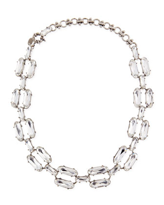 Clear Double-Crystal Necklace