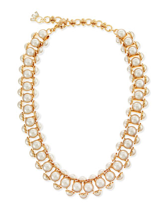 Deco Faux-Pearl Chain Necklace