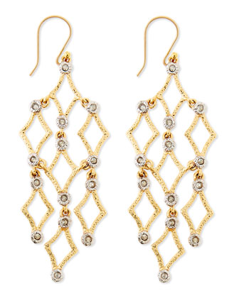 Crystal-Studded Chandelier Earrings