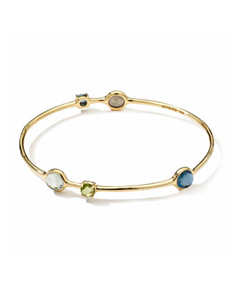 18k 5-Multi-Stone Station Gelato Bangle