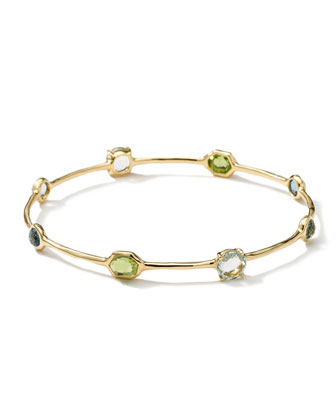 18k Gold Gelato 8-Stone Bangle, Tartan