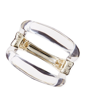 Extra Large Extra Clear Lucite Hinge Bangle