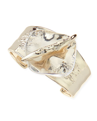 Medium Clear Lucite-Center Cuff
