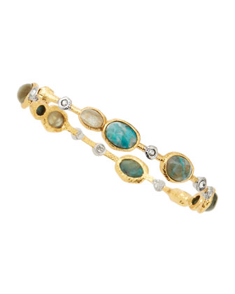 Think Lace Labradorite & Chrysocolla Bangle