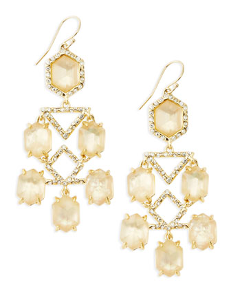 Fancy Citrine Chandelier Earrings
